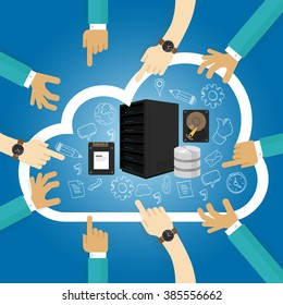 Infrastructure as a service shared hosting hardware in the cloud storage database server