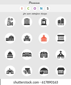 infrastructure vector icons for user interface design
