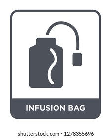 infusion bag icon vector on white background, infusion bag trendy filled icons from Bistro and restaurant collection, infusion bag vector illustration