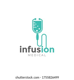 infusion logo, creative stethoscope , infusion vector