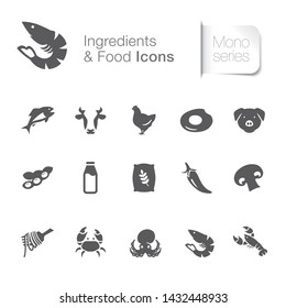 Ingredient & food related icons