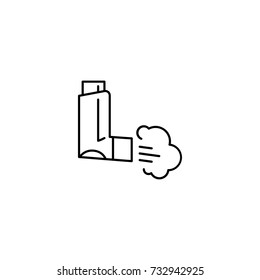 inhaler for asthma icon