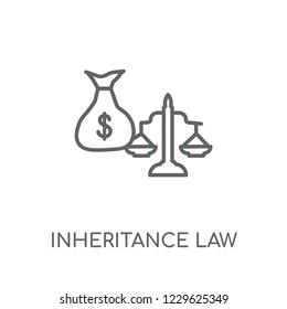 inheritance law linear icon. Modern outline inheritance law logo concept on white background from law and justice collection. Suitable for use on web apps, mobile apps and print media.