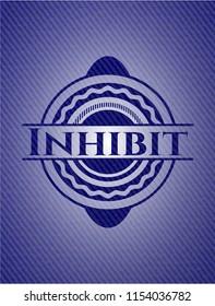 Inhibit emblem with jean texture