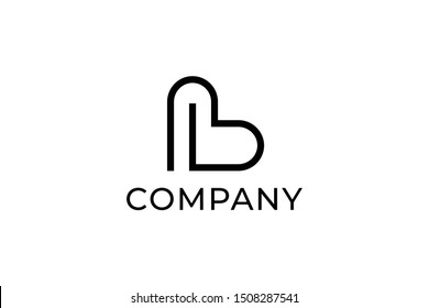 Initail Letter B or BL Clean And Stylish Logo Vector Design Template Inspiration