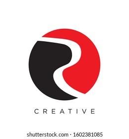 initia logo r river design simple icon