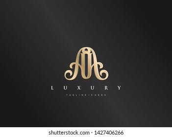 Initial AA, AM, MA, Luxury Logo vector