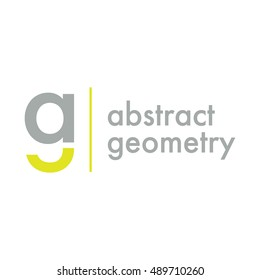 initial abstract letter ag lowercase logo grey yellow for your business. mirror effect