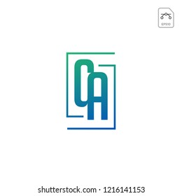 initial AC, CA, A, C Logo template vector illustration