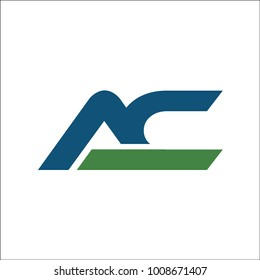 initial AC letter abstract logo