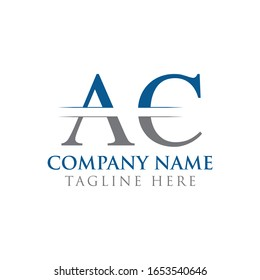 Initial AC Letter Logo With Creative Modern Business Typography Vector Template. Creative Abstract Letter AC Logo Design