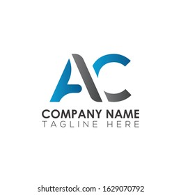 Initial AC Letter Logo With Modern Typography Vector Template. Creative Abstract Letter AC Logo Design