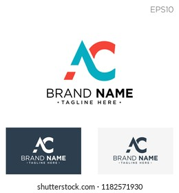 initial AC logo template vector illustration