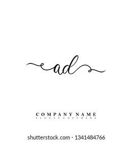 Initial AD handwriting logo