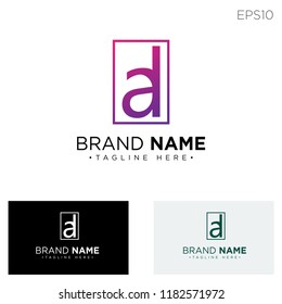 initial AD logo template