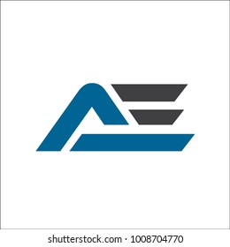 initial AE abstract logo
