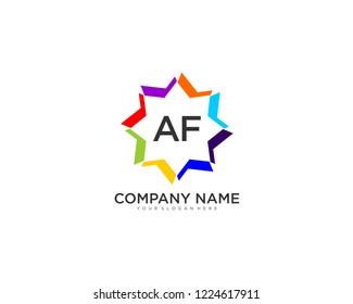 initial AF Business Logo vector