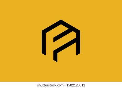 Initial AF FA modern monogram and elegant logo design, Professional Letters Vector Icon Logo on background.