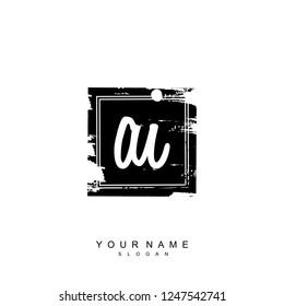 Initial AI handwriting logo vector