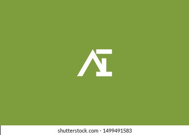 Initial AI IA Letter Logo Design Vector Template. Monogram and Creative Alphabet I A Letters icon Illustration.