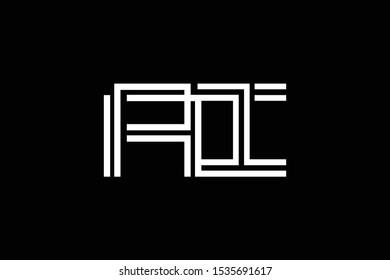 Initial AI IA modern monogram and elegant logo design, Professional Letters Vector Icon Logo on black background.