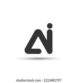 Initial AI Letter Logo Design