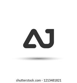 Initial AJ Letter Logo Design