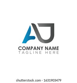 Initial AJ Letter Logo With Modern Typography Vector Template. Creative Abstract Letter AJ Logo Design