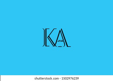 Initial AK KA Letter Logo Design Vector Template. Monogram and Creative Alphabet K A and Z Letters icon Illustration.