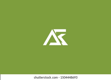 Initial AK KA Letter Logo Design Vector Template. Monogram and Creative Alphabet K A Letters icon Illustration.