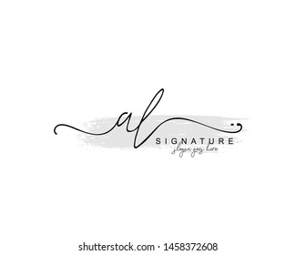 Initial AL beauty monogram and elegant logo design, handwriting logo of initial signature, wedding, fashion, floral and botanical with creative template.