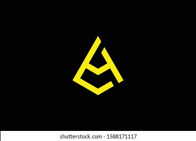Initial AL LA LH HL modern monogram and elegant logo design, Professional Letters Vector Icon Logo on black background.