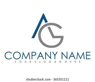 initial alphabet combination AG logo