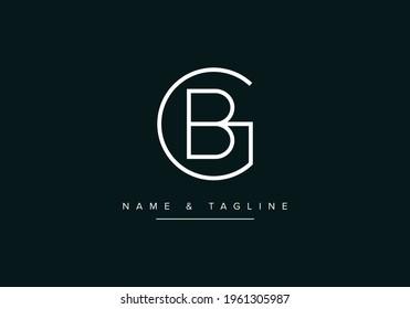 Initial Alphabet letter Logo icon GB or BG