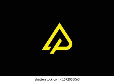 Initial AP PA modern monogram and elegant logo design, Professional Letters Vector Icon Logo on black background.