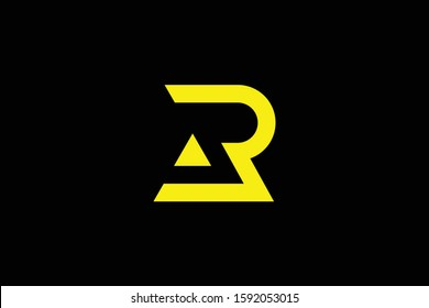 Initial AR RA modern monogram and elegant logo design, Professional Letters Vector Icon Logo on black background.