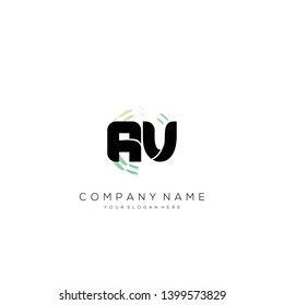 Initial AV abstract logo design vector.