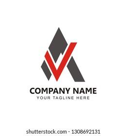 Initial AV Logo Design inspiration