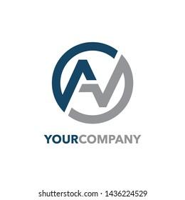 Initial AV logo design vector illustration