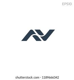 initial AV, N logo template vector illustration