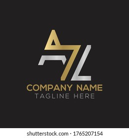 Initial AZ Letter Logo With Creative Modern Business Typography Vector Template. Creative Linked Letter AZ Logo Design