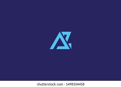 Initial AZ ZA Letter Logo Design Vector Template. Creative and Minimal Alphabet Z A Letters icon Illustration.