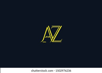 Initial AZ ZA Letter Logo Design Vector Template. Monogram and Creative Alphabet Z A and Z Letters icon Illustration.