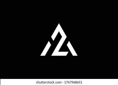 Initial AZ ZA modern monogram and elegant logo design, Professional Letters Vector Icon Logo on black background.