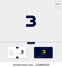 Initial B, BB, 13, 3, or EB outline creative logo template and business card design template include. vector illustration and logo inspiration