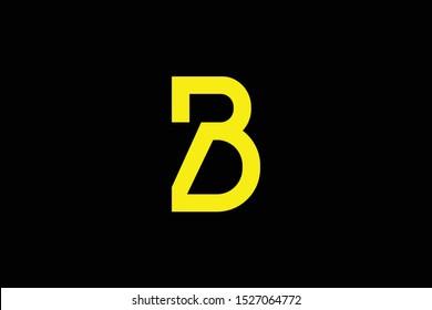 Initial B BD DB PD DP modern monogram and elegant logo design, Professional Letters Vector Icon Logo on black background.