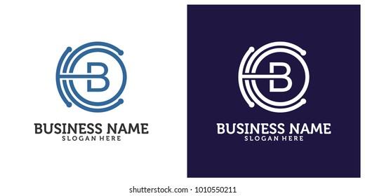Initial B C O logo design template