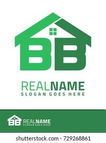 Initial B & B real estate logo template vector