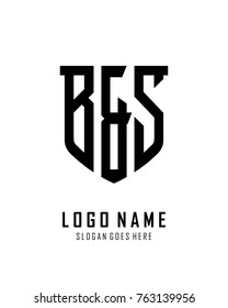 Initial B & S abstract shield logo template vector