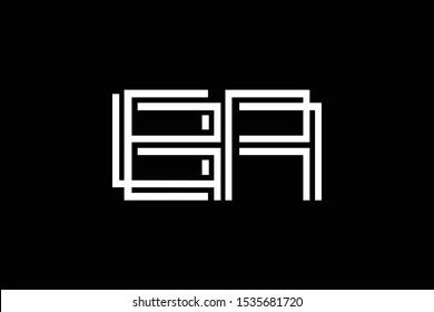 Initial BA AB BR RB modern monogram and elegant logo design, Professional Letters Vector Icon Logo on black background.